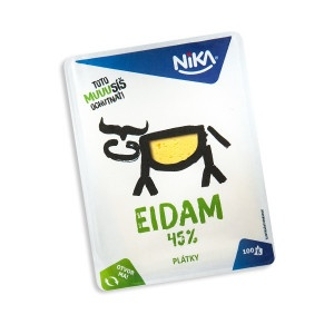 Syr 45% Eidam živočíšny plátky NIKA 100g 6