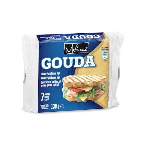 Syr tavený plátkový GOUDA 130g 1