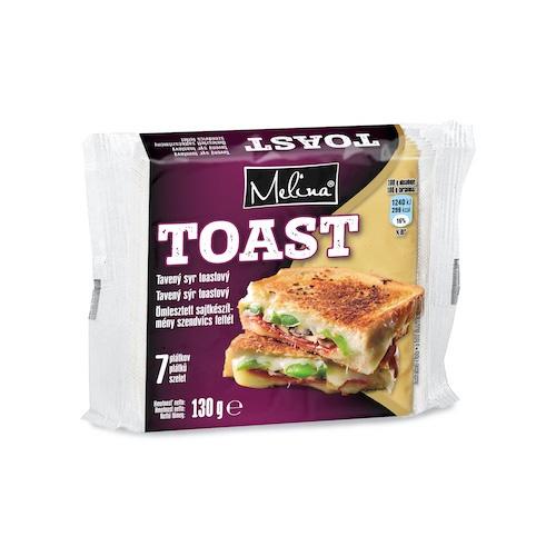 Syr tavený plátkový toastový 130g 1