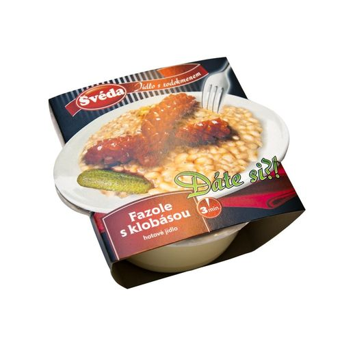 Hotové jedlo Fazuľa s klobásou ŠVÉDA 360g 1