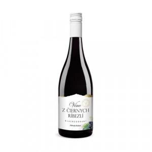Víno ovocné z čiernych ríbezlí 0,75l 3