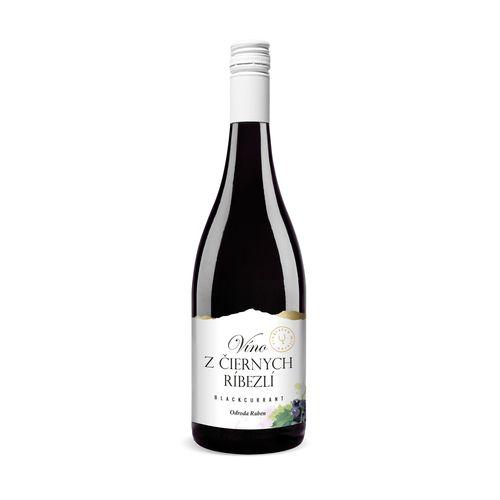 Víno ovocné z čiernych ríbezlí, Miluron 0,75l 1