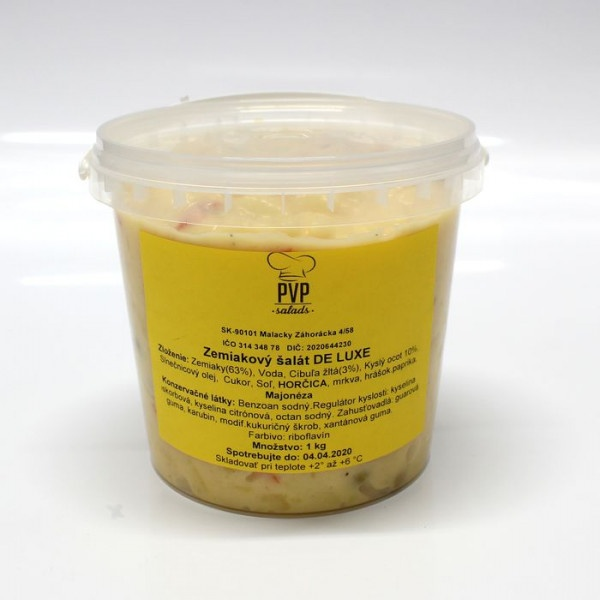 Šalát Zemiakový (Majonézový) DE LUXE PVP 1kg vedro 1
