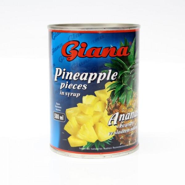 Kompót ananásový kúsky GIANA 580ml 1