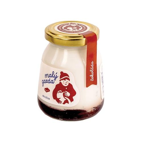 Jogurt čokoládový bez Éčiek MALÝ GAZDA 200g 1