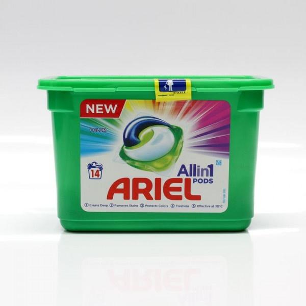 Gélové kapsule na pranie ARIEL 14ks 1
