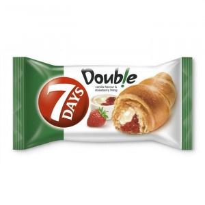 Croissant 7 DAYS Double vanilka a  jahoda  60g 2