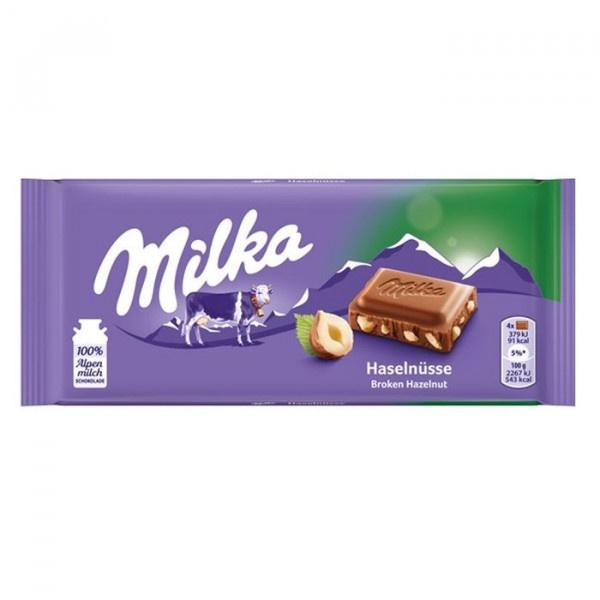 Čokoláda MILKA oriešková 100g 1