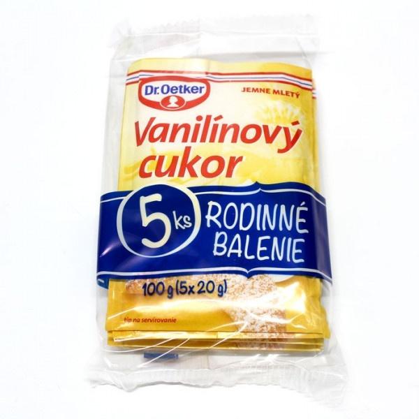 Cukor vanilínový Dr. OETKER 5 kusové balenie 100g 1