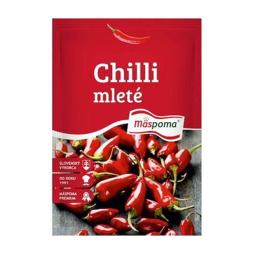 Korenie Chilli papričky mleté 20g Mäspoma 1