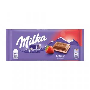 Čokoláda MILKA Jahoda 100g 24