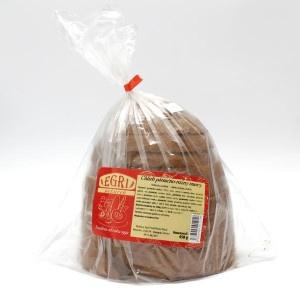 Chlieb kváskový tmavý krájaný balený EGRI 450g 5