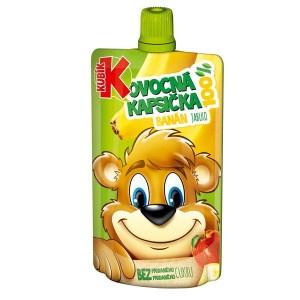 Detská výživa BANÁN jablko kapsička KUBÍK 100g 6