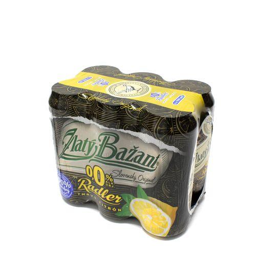 Pivo Zl. Bažant 0% rad.tmavý 0,5l plech 6ks CITRÓN 1