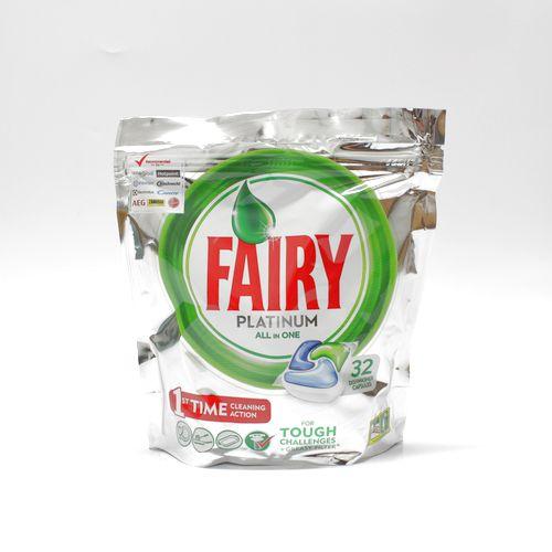Tablety do umývačky Fairy Platinum all in one 32ks 1