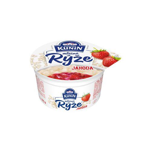 Mliečna ryža jahoda KUNÍN 175g 1