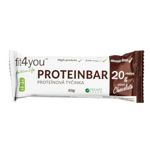 Fit4you Protein. tyčinka 30% Čokoláda 60g 1