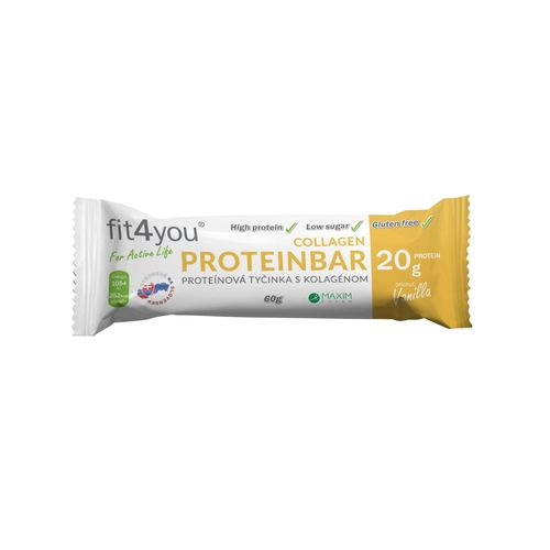 Fit4you Protein. tyčinka 30% Vanilka 60g 1