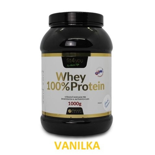 Fit4you WHEY PROTEIN 100% Vanilka 1kg 1
