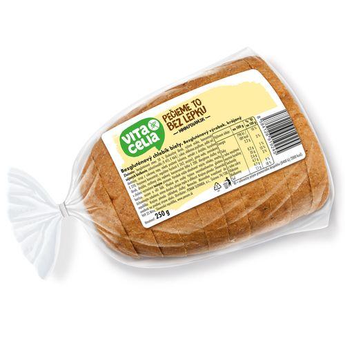 Chlebík bezglut. biely kráj. balený VITACELIA 250g 1