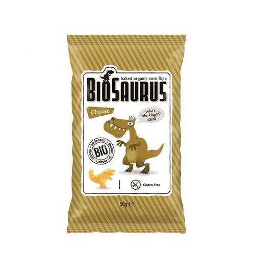 Snack pre deti kukuričný syrový BIO BIOSAURUS 50g 1