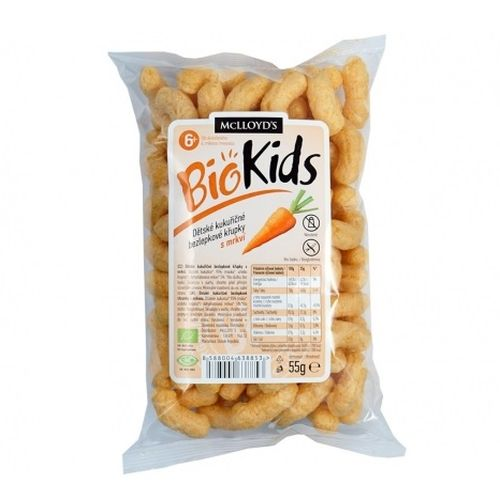 Chrumky pre deti bezglut. s mrkvou BIOKIDS 55g 1