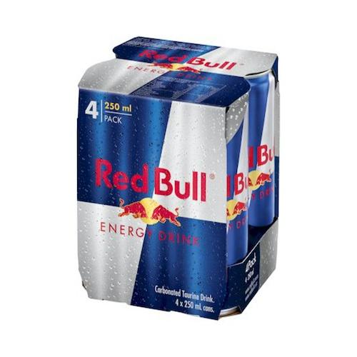 RED BULL energy drink 4x250ml plech 1