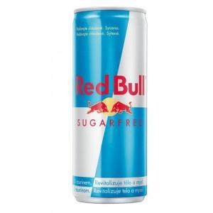 RED BULL energy drink sugarfree 250ml plech 11