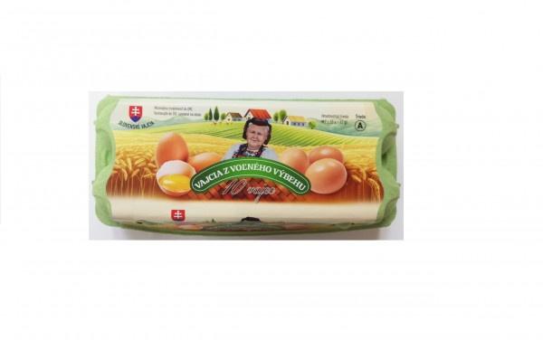 Vajcia z voľného výbehu tr.A M 10ks 1