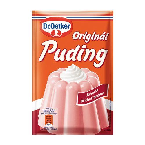 Originál puding jahoda aróma 37g Dr. Oetker 1