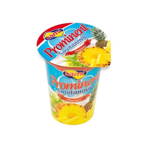 Jogurt smotanový PROMINENT ananás TAMI 135g 1