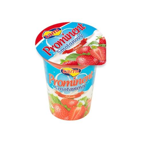 Jogurt smotanový PROMINENT jahoda TAMI 135g 1