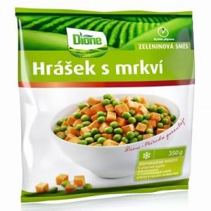 Mrazená zeleninová zmes hrášok s mrkvou Dione 350g 6