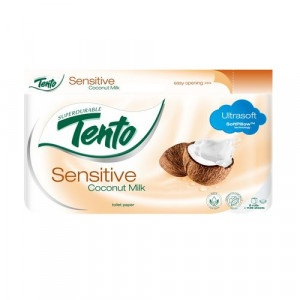 Tento Sensitive CocoMilk toaletný papier 3vrs. 8ks 10