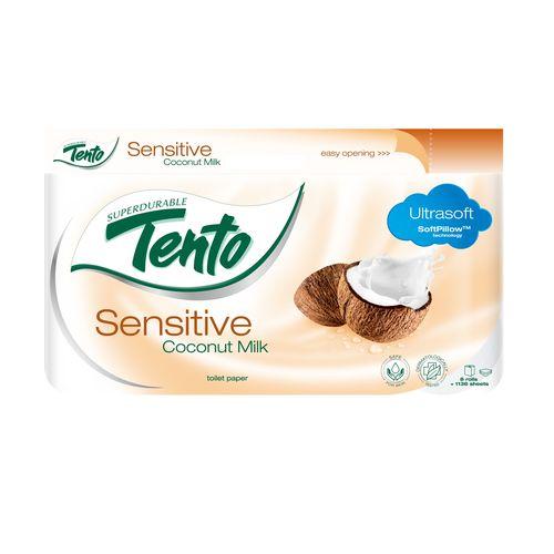Tento Sensitive CocoMilk toaletný papier 3vrs. 8ks 1