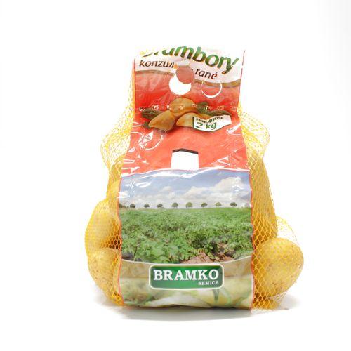 Zemiaky konz. skoré žlté 2,0kg prané BRAMKO VT:B 1