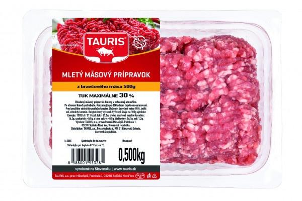 Ml. mäs. príp. br. mäso tuk max 30% 500g OA Tauris 1