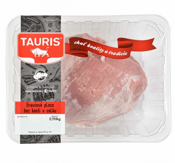 Bravčové plece bez kosti v celku OA Tauris 1