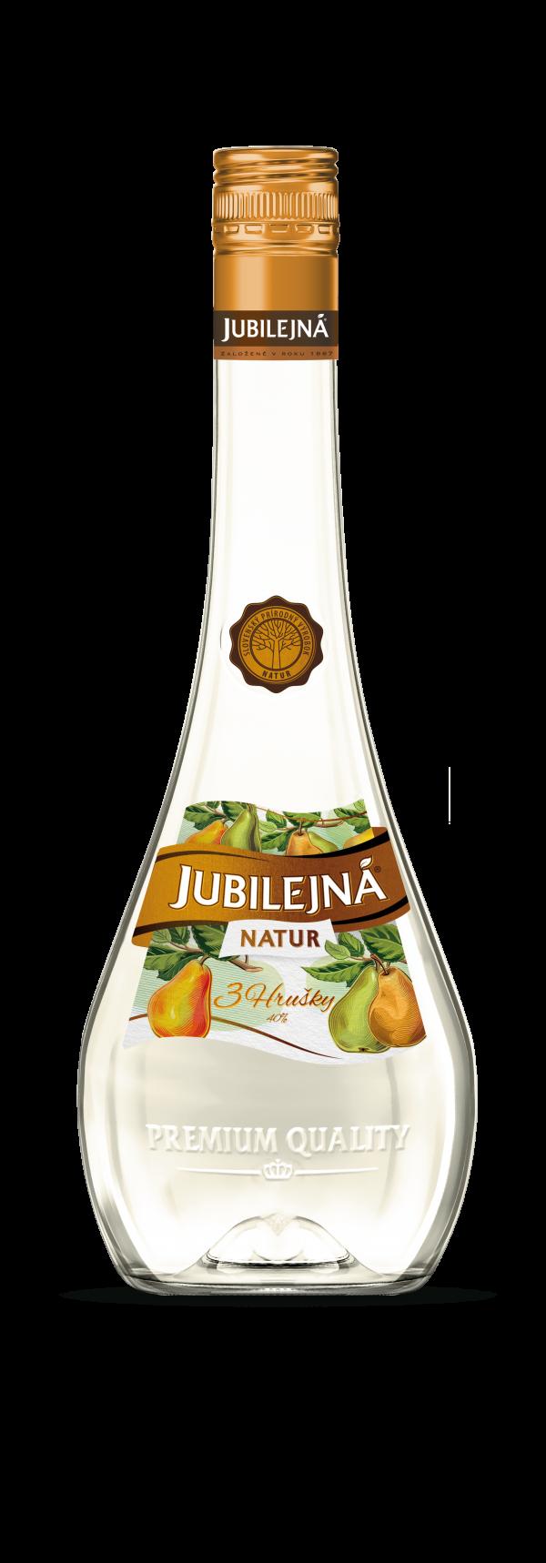Jubilejná Natur 3 hrušky 40% 0,7 l 1
