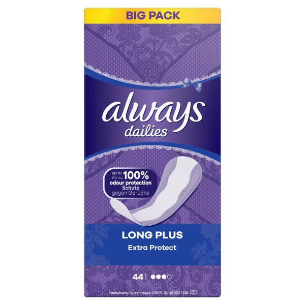 Always Dailies ExtraProtect LongPlus Intímky 44ks 1