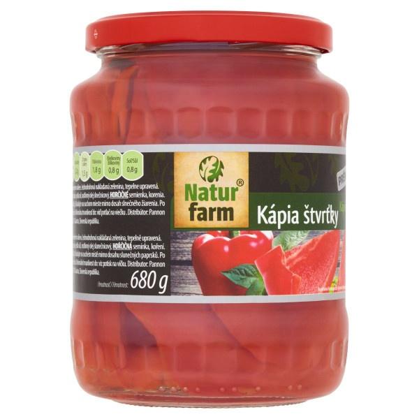 Kápia sterilizovaná štvrťky Natur Farm 660 g 1