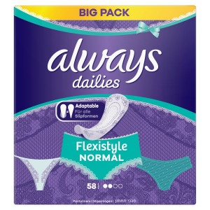 Always Dailies Flexistyle Normal Intímky 58ks 6
