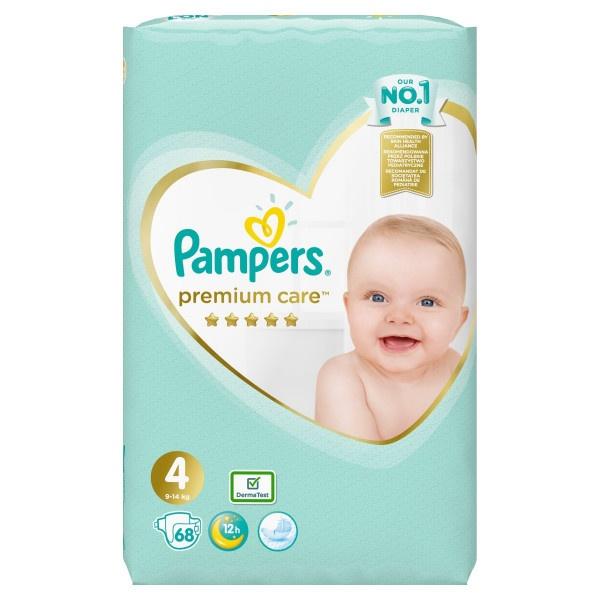 Pampers Premium Care Veľ.4, 9-14kg, Plienky 68ks 1