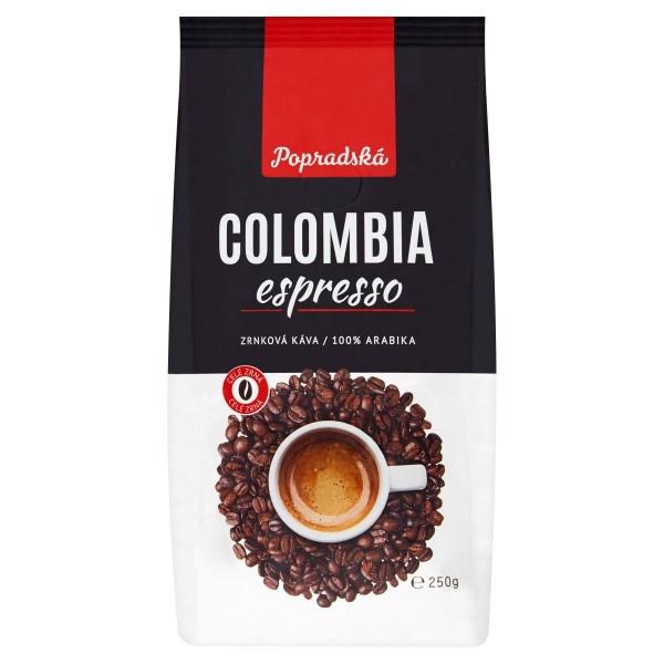 Popradská Colombia pražená zrnková káva 250 g 1