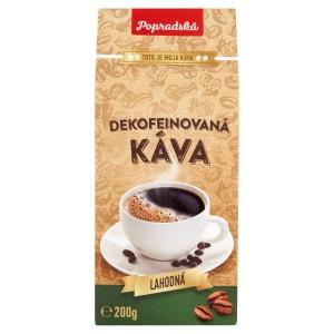 Popradská Dekofeínovaná pražená mletá káva 200 g 1