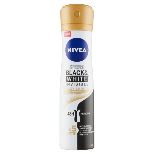 Nivea B&W Invisible Silky Smooth Sprej 150 ml 1