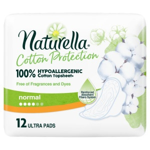 Naturella Cotton Ultra Normal hyg.vlož 12ks 24