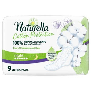 Naturella Cotton Ultra Night hyg.vlož 9ks 14