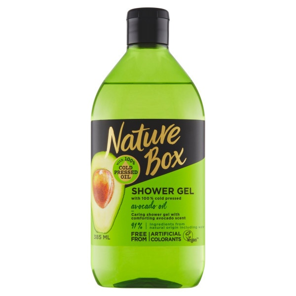 Nature Box Avocado Oil Sprchovací gél 385 ml 1