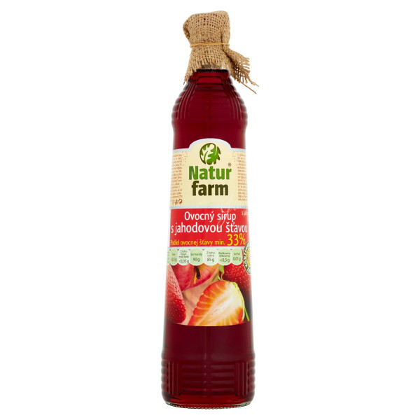 Sirup jahodový Natur Farm 0,7L 1